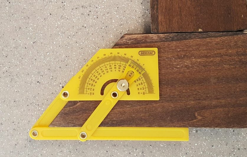 Use a protractor angle
