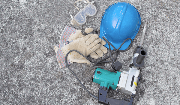 concrete drilling safety tools