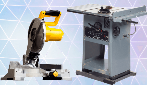 table saw versus mitre saw